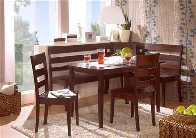 Corner Bench Kitchen Table Set Solid Wood Booth Breakfast Nook Ebay