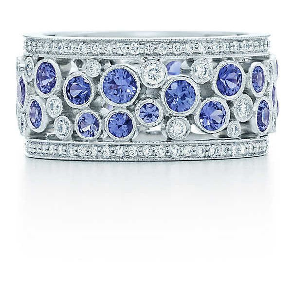 2ebd7acc7 Tiffany Cobblestone Diamond and Sapphire Band Ring | Shiny Things ...