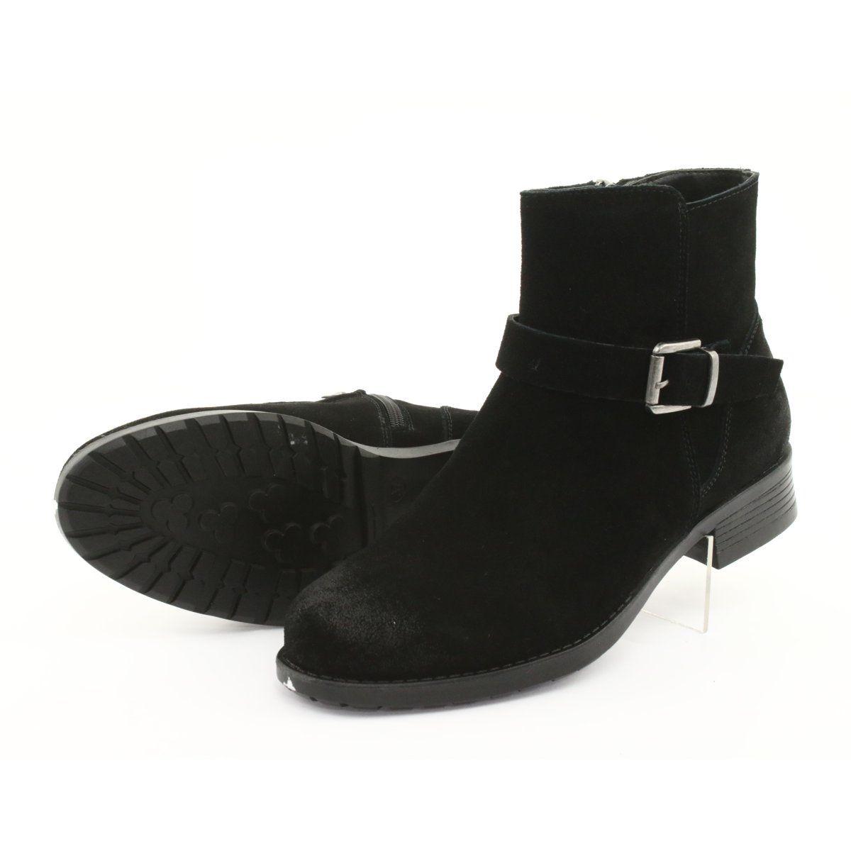 Botki Zamszowe Czarne American Club Sh04 Boots Black Boots Womens Boots