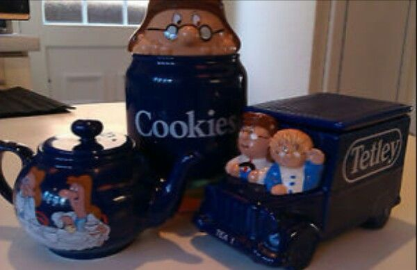 Pin By Darrelyn Olson On Wade Whimsies Decorative Jars Tetley Tea Jar