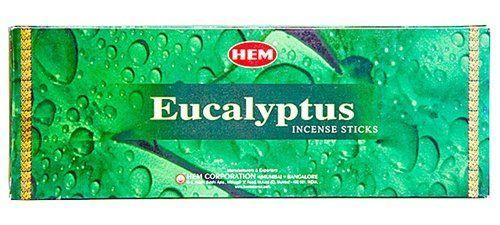 Eucalyptus - Box of Six 20 Stick Tubes - HEM Incense Hem…