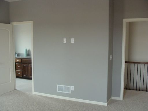 I Like The Gray Color With White Border Behr Paint Ashes Half Bath Playroom New House