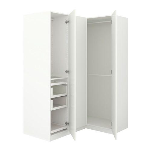 pax eckkleiderschrank wei fardal hochglanz wei pax eckkleiderschrank schrank. Black Bedroom Furniture Sets. Home Design Ideas
