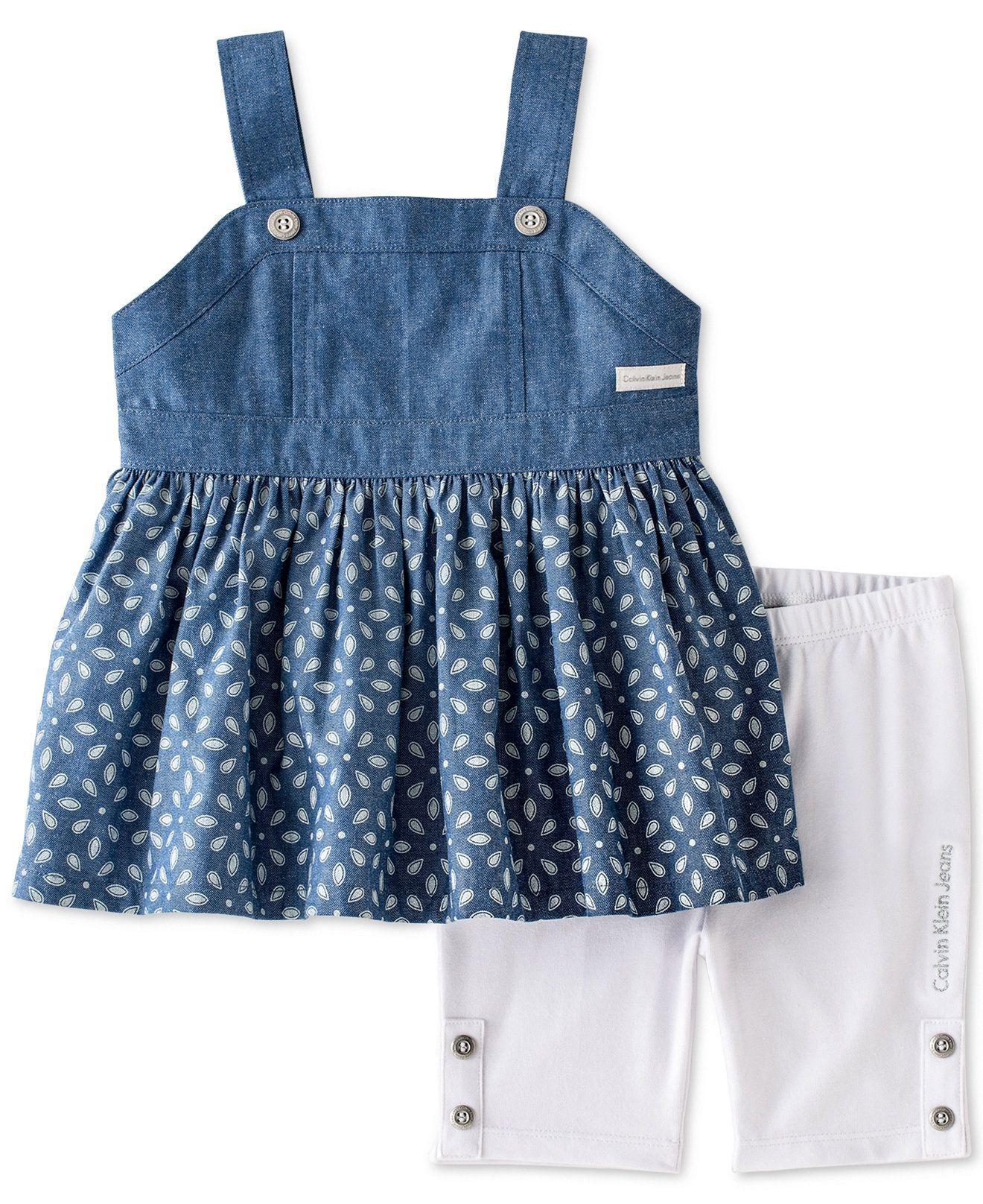 4a583133c26 Calvin Klein Baby Girls' 2-Piece Top & Shorts Set - Kids Baby Girl ...
