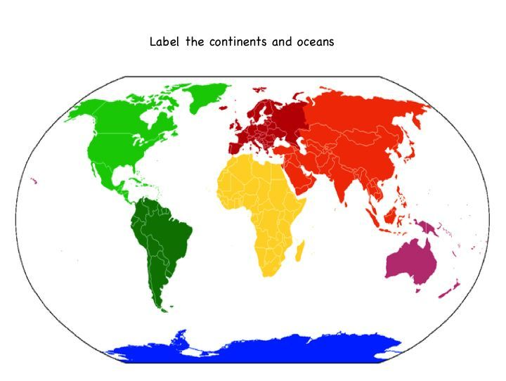 printable map of the continents and oceans for kids ...
