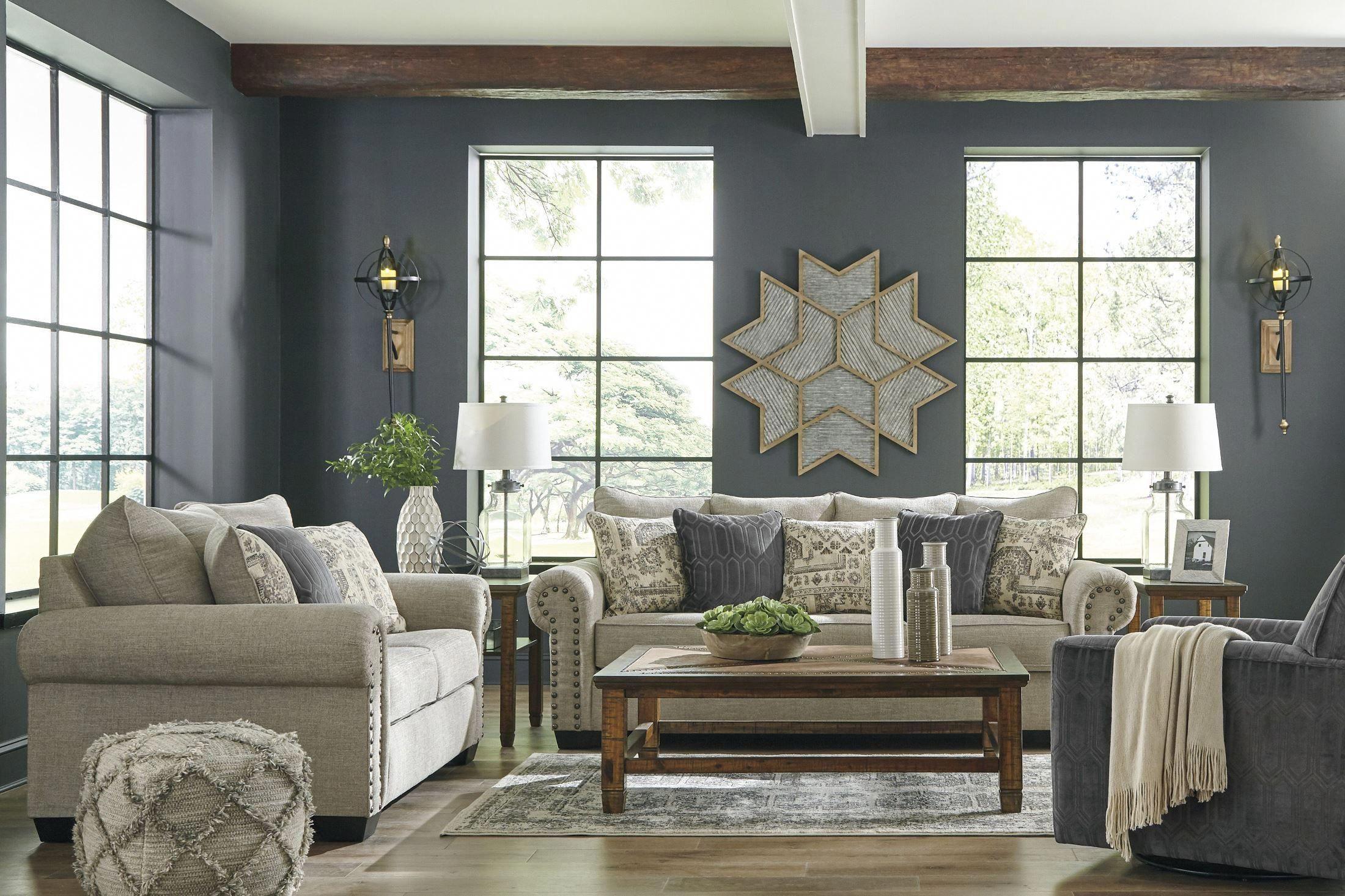 Zarina Jute Living Room Set Asl 9770438 Room Livingroomfurniturelayoutsofatables In 2020 Living Room Sets Queen Sofa Sleeper Ashley Furniture