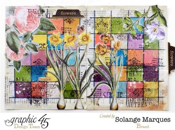 Art Journal by Solange Marques using Graphic 45 Time to Flourish collection