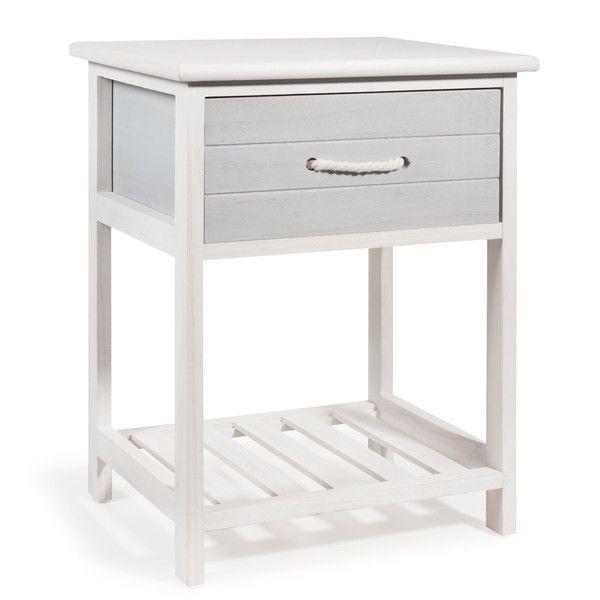 Mesita de noche blanca Al. 30 cm ... | Dormitorio | Pinterest ...