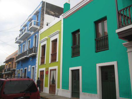 Azul turquesa fachada