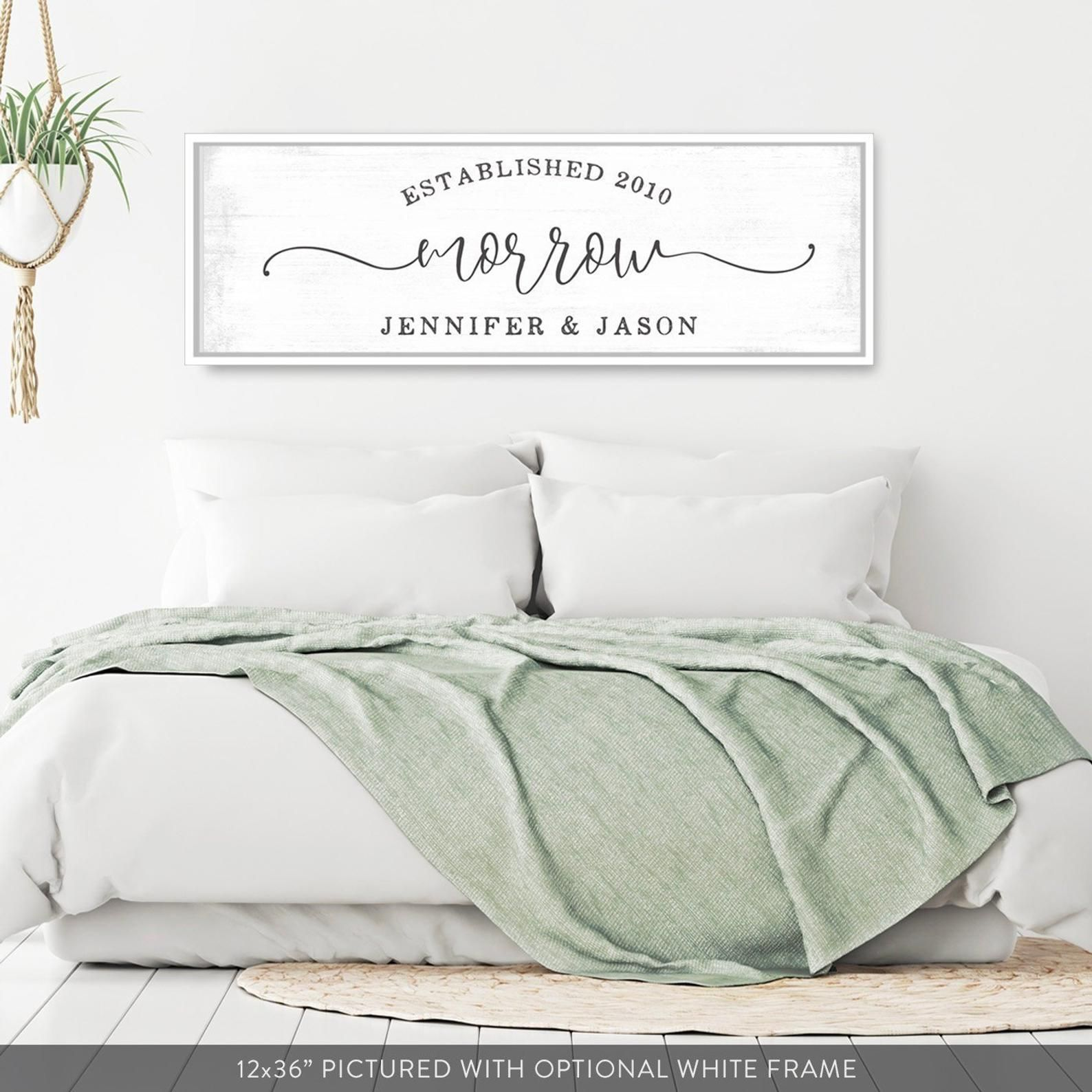 Married Couple Sign Married Couple Wall Art Above Bed Art Above