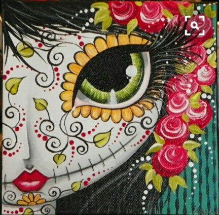 Dibujo Catrina Draw Flores Color Mexicana Mujer Woman Esqueleto