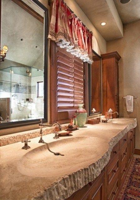Web Image Gallery Wonderful stone bathroom designs