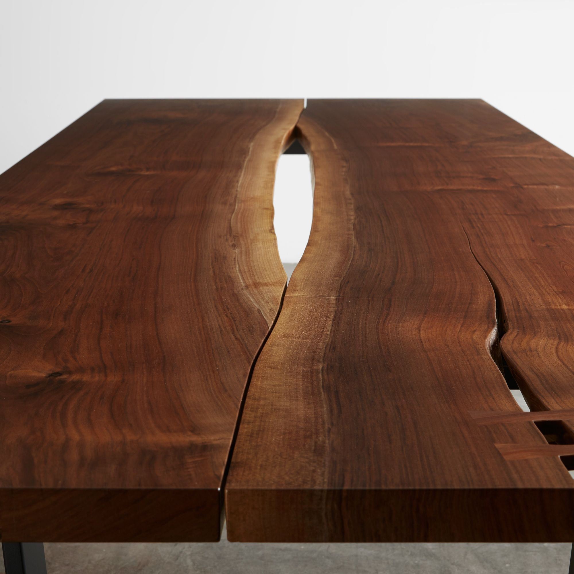 This Walnut Reverse Matched Table Top With Center Reveal Is Shown