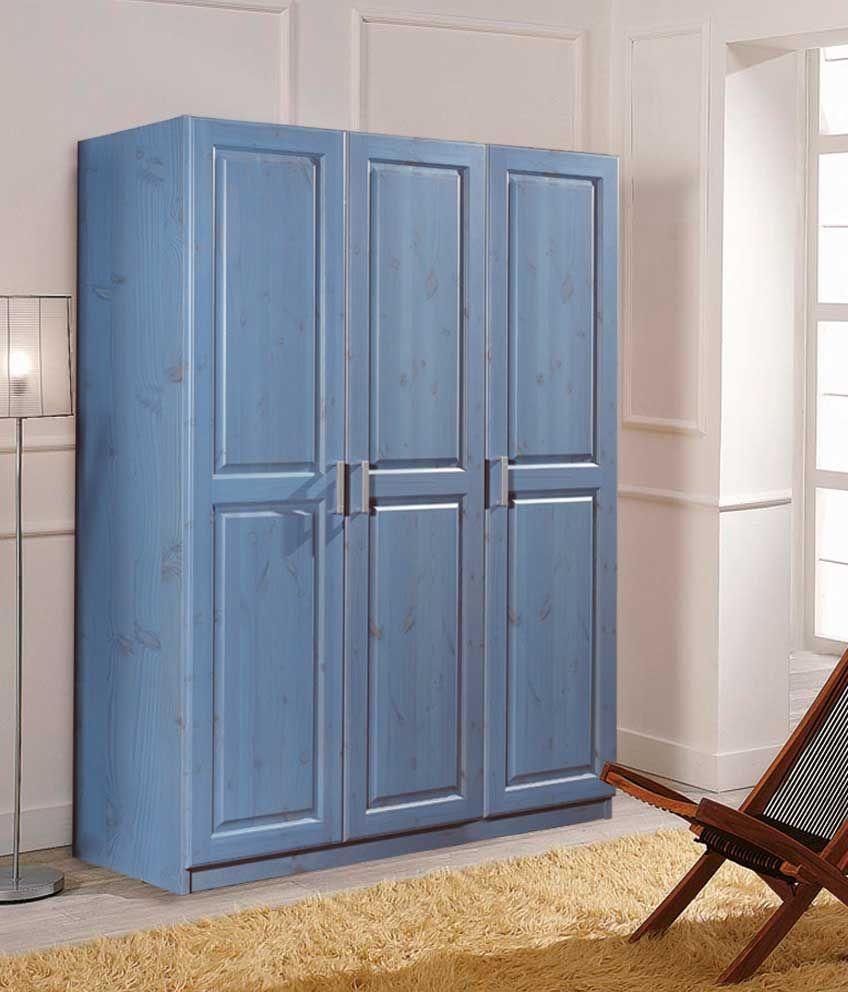 Cabina armadio 3 porte con struttura in legno di pino massiccio di ...