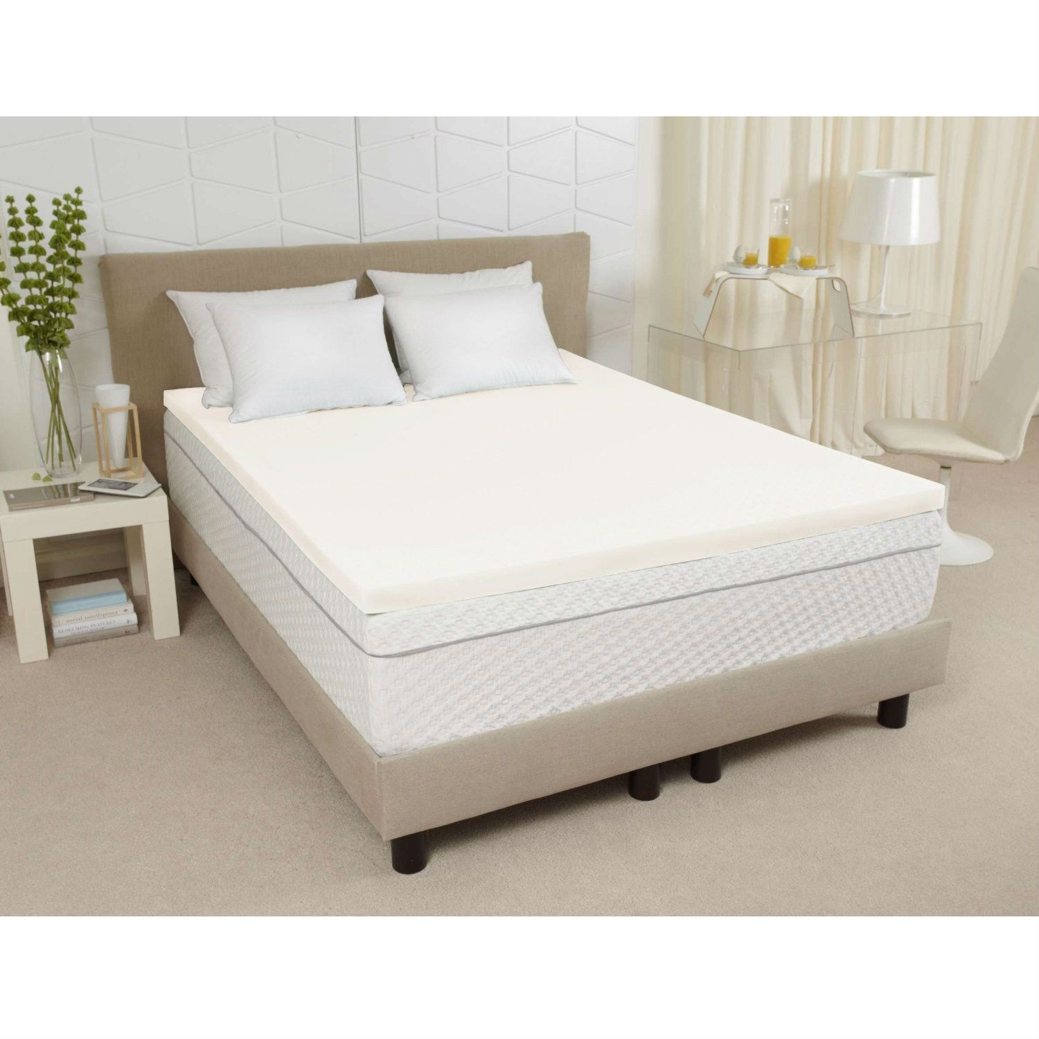 Twin Xl Size 3 Inch Thick Ventilated Memory Foam Mattress Topper