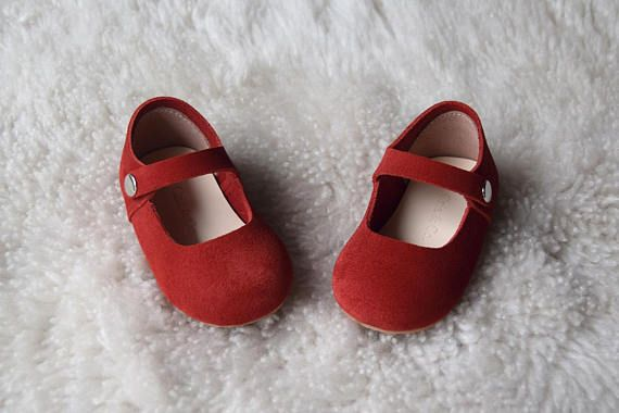 7fff6bff69518 Red Baby Girl Shoes, Toddler Girl Shoes, Leather Baby Shoes, Baby ...
