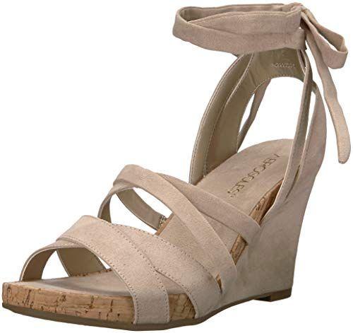 RAMPAGE Women's Havarti Block Heel Sandals, Smooth Cognac