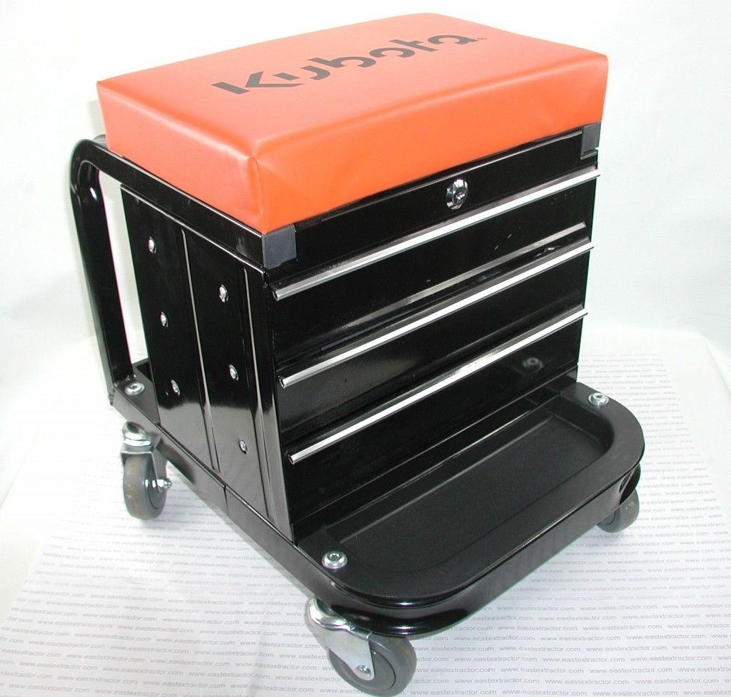Tool box drawers and seat combo on wheels!  Love it! $120 - comparable price to standard metal drawer tool box.  Item #77700-04749