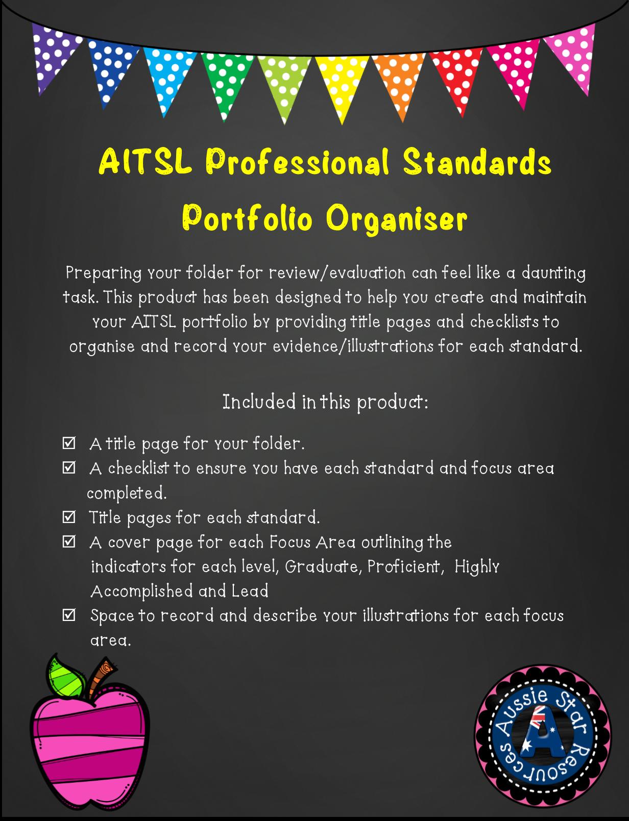 AITSL Professional Standards Portfolio Organiser for Australian ...
