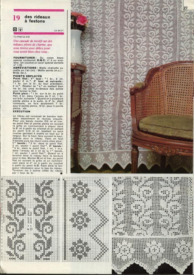 26g Filet Pinterest Crochet Curtains Crochet And Filet Crochet