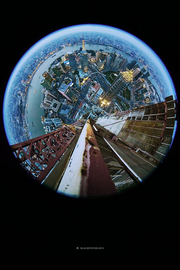 Stunning Fisheye Photographs Invert Landscapes Distort Perspective Designtaxi Com Fisheye Photography Cityscape Photography Distortion Photography