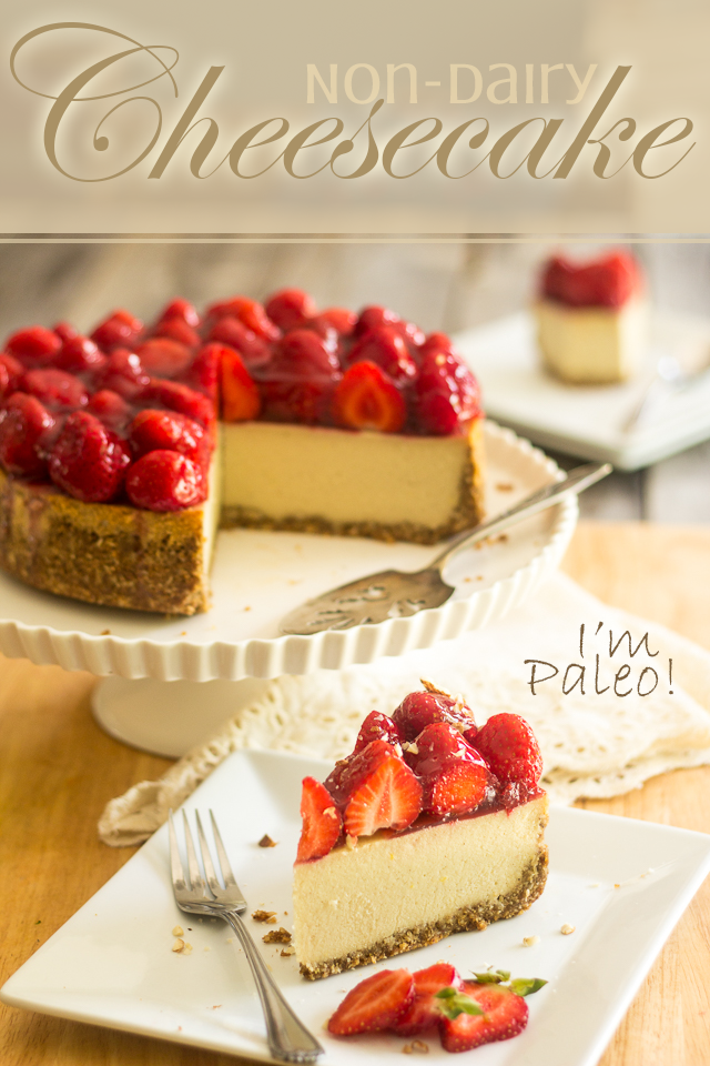 Non-Dairy Paleo Cheesecake | thehealthyfoodie.com . . . Want to make this soooo bad but I'll definitely have to figure out how to reduce the carbs first ~ Becky