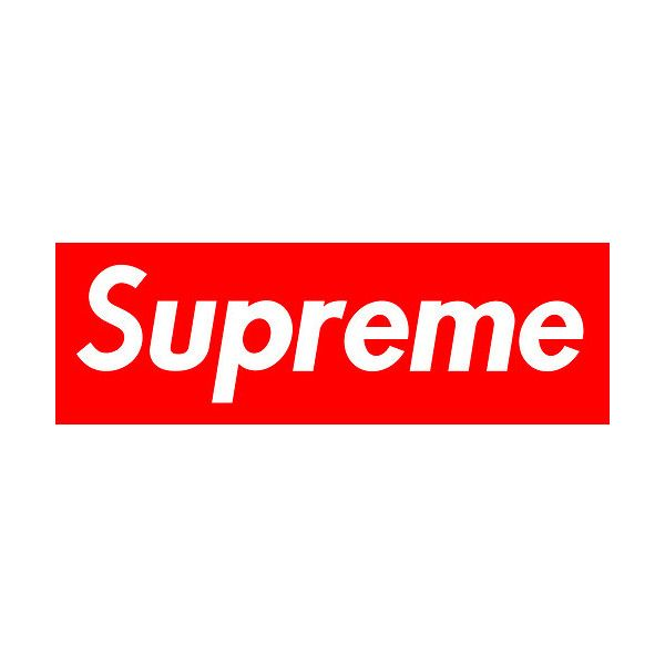 Supreme Logo Tumblr Liked On Polyvore Featuring Words