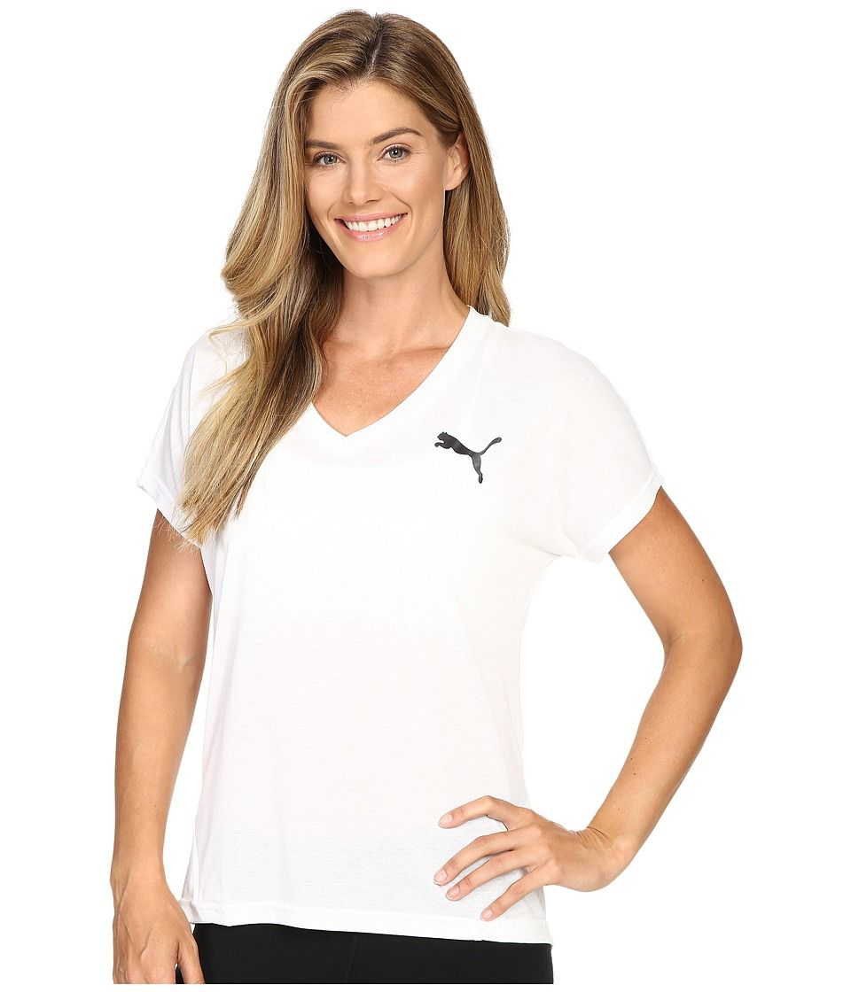 364358b08ef PUMA PUMA - ELEVATED SPORTY TEE (PUMA WHITE) WOMEN'S T SHIRT. #puma #cloth #