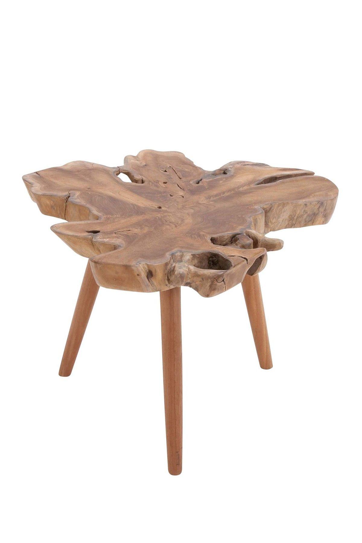 UMA | Wood Teak Table | Teak table, Outdoor end tables ...