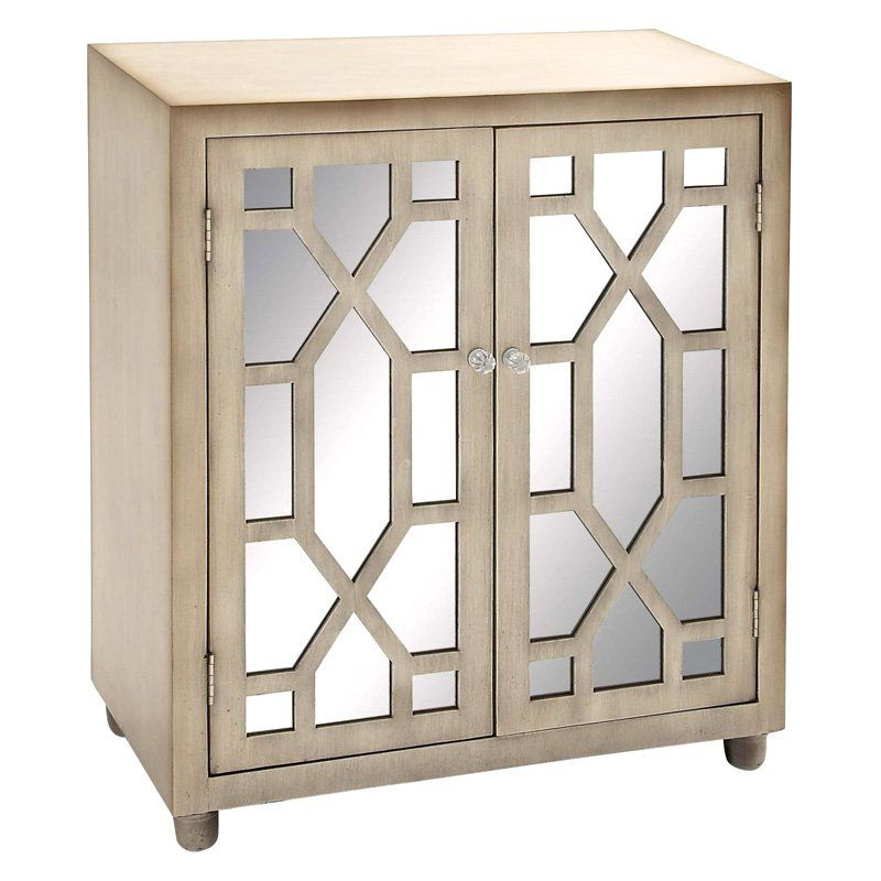 DecMode Geometric Decorative Mirror Cabinet | from ...