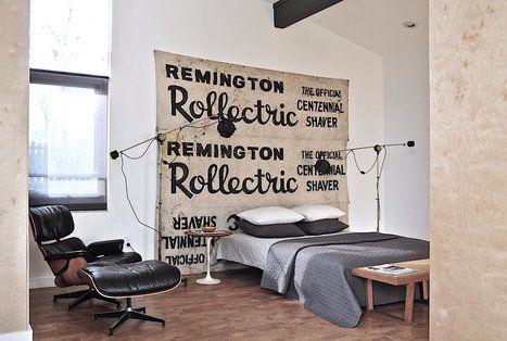 Chambre à coucher de style industriel Lofts Pinterest