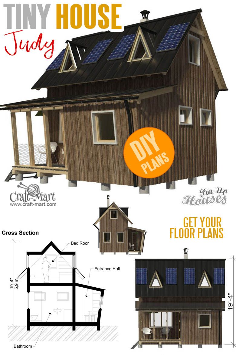 16 Cutest Small And Tiny Home Plans With Cost To Build Craft Mart Tiny House Plans House Plans Tiny House Floor Plans