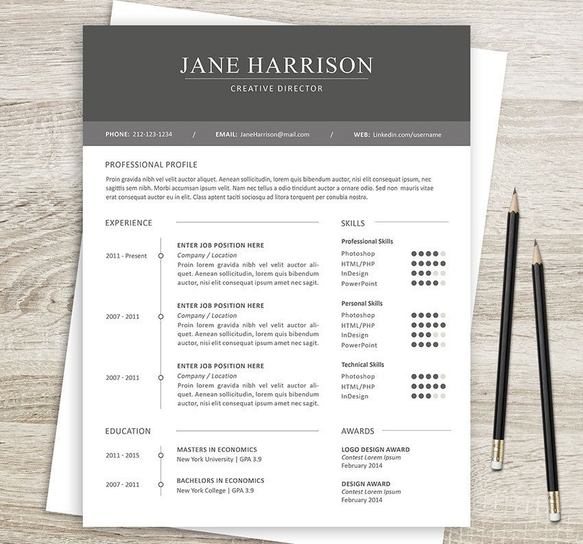 Microsoft Word Resume Template And Cover Letter