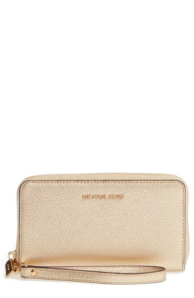 83a482bd31120 Main Image - MICHAEL Michael Kors Mercer Large Leather Wristlet ...