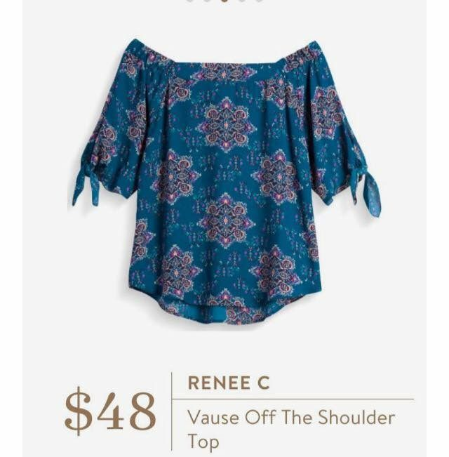 1e833b4adf828a Fix 8 Kept - Renee C Vause off the Shoulder Top in Blue Size S ( 48) -  Tiffany