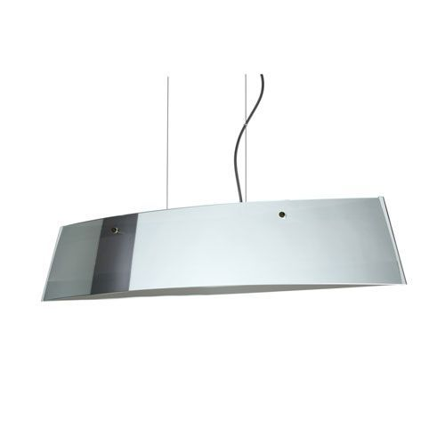 Silhouette 28 Bronze Four-Light LED Linear Pendant with Mirror Frost Glass