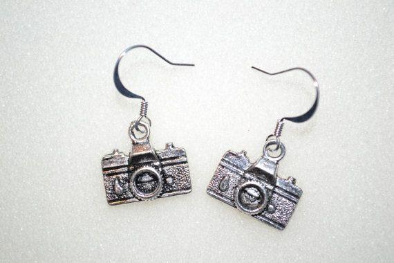 Camera Charm Earrings  Pierced Ears or by MandaLynnCreations