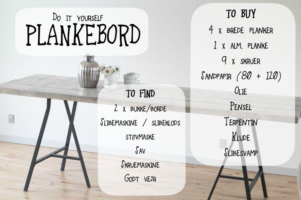 DIY: Lækkert billigt plankebord til under 1000 kr. Color