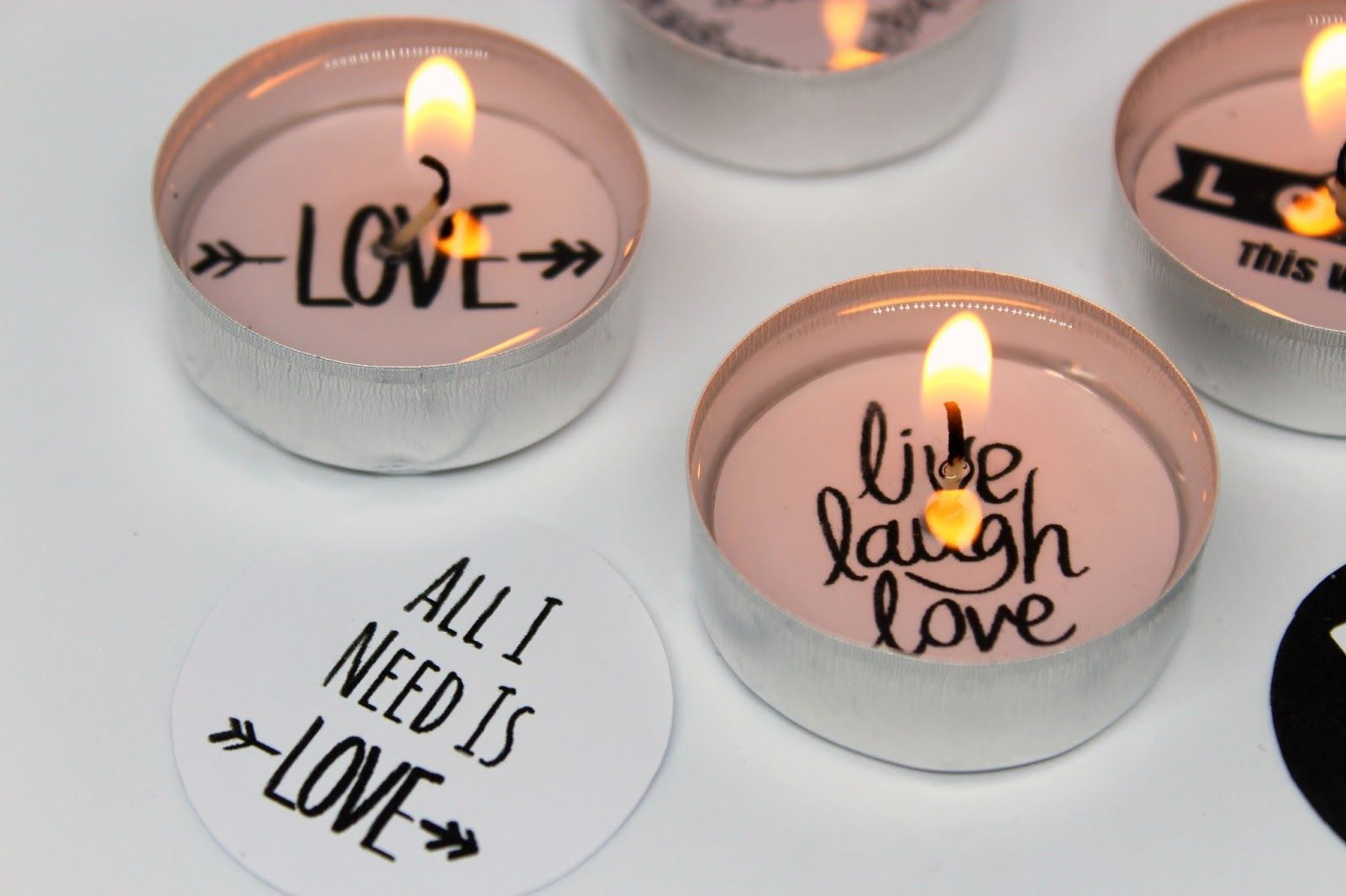 Make DIY cute tealights with love message  video tutorial  Make DIY cute tealights with love message  video tutorial
