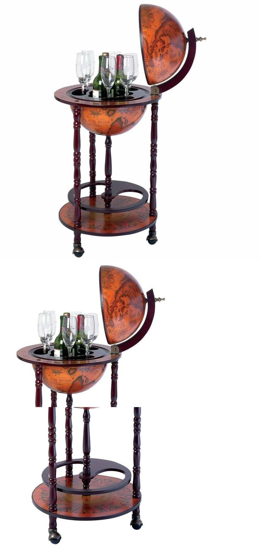 Home Pubs And Bars 115713 Wine Globe Bar Furniture Italian Old World Replica Liquor Storage
