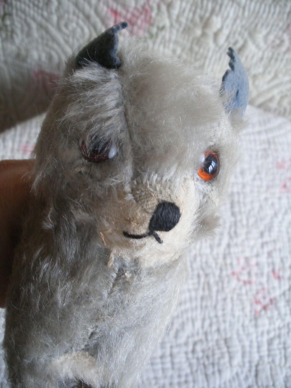 Vintage Chiltern Mohair Cat, British Maker Stuffed Animal