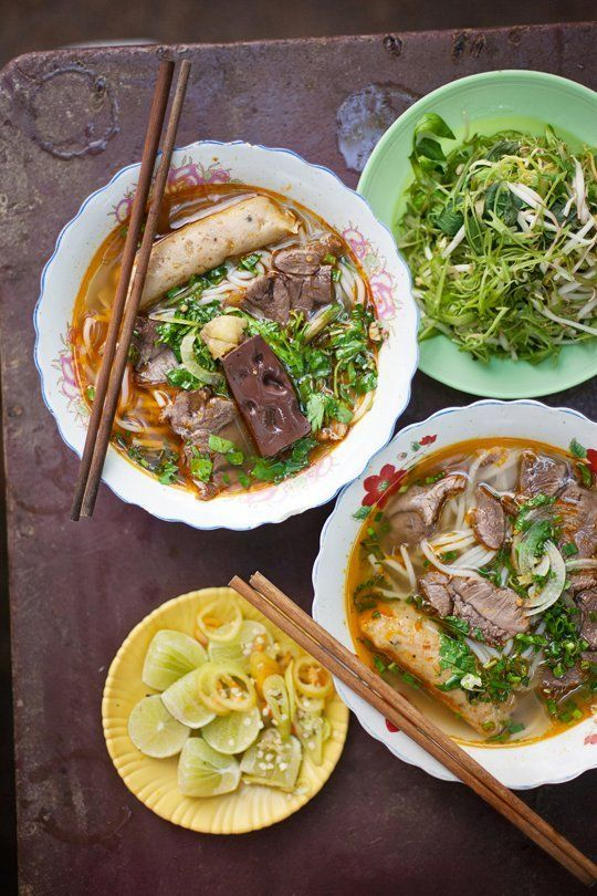 Vietnamese Hue's traditional spicy noodles.  5 Tips For Taking Better Food Photos When You Travel — Guest Post from Dylan + Jeni