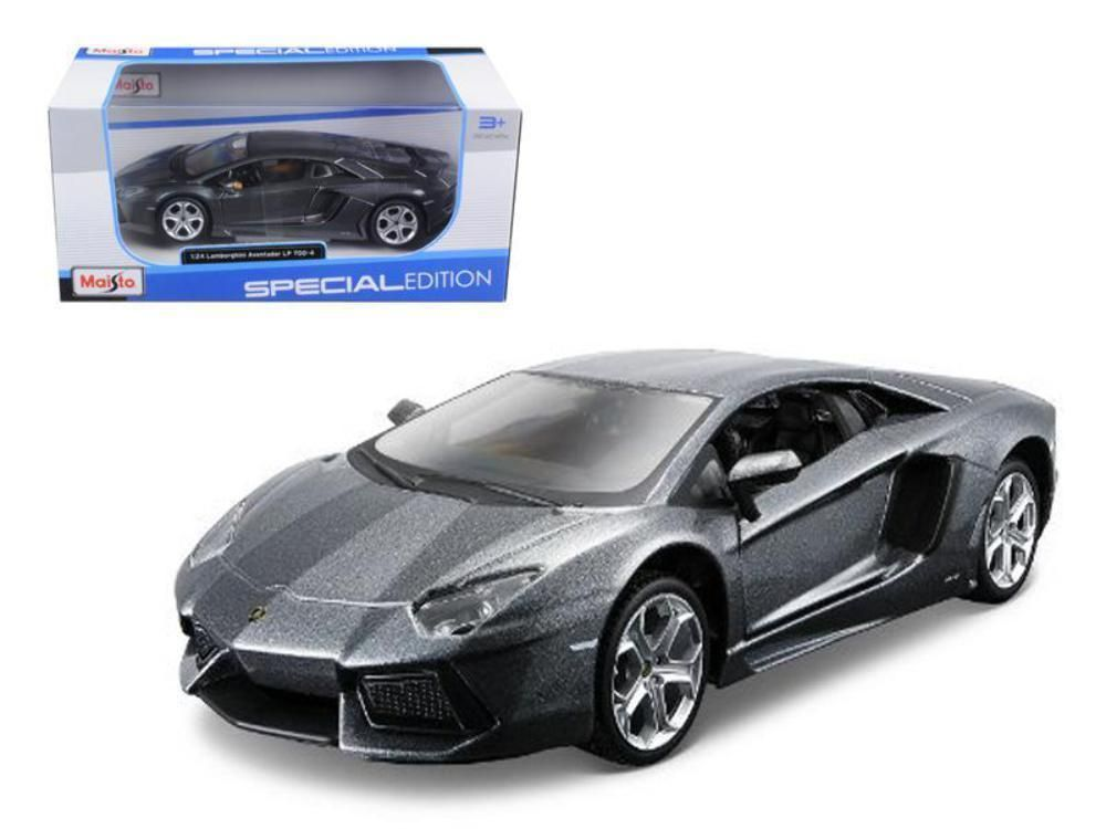 Nice Awesome Lamborghini Aventador LP700-4 Grey 1/24 Diecast Model ...