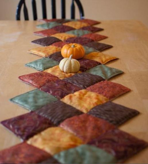 Fall Hued Quilted Tablerunner