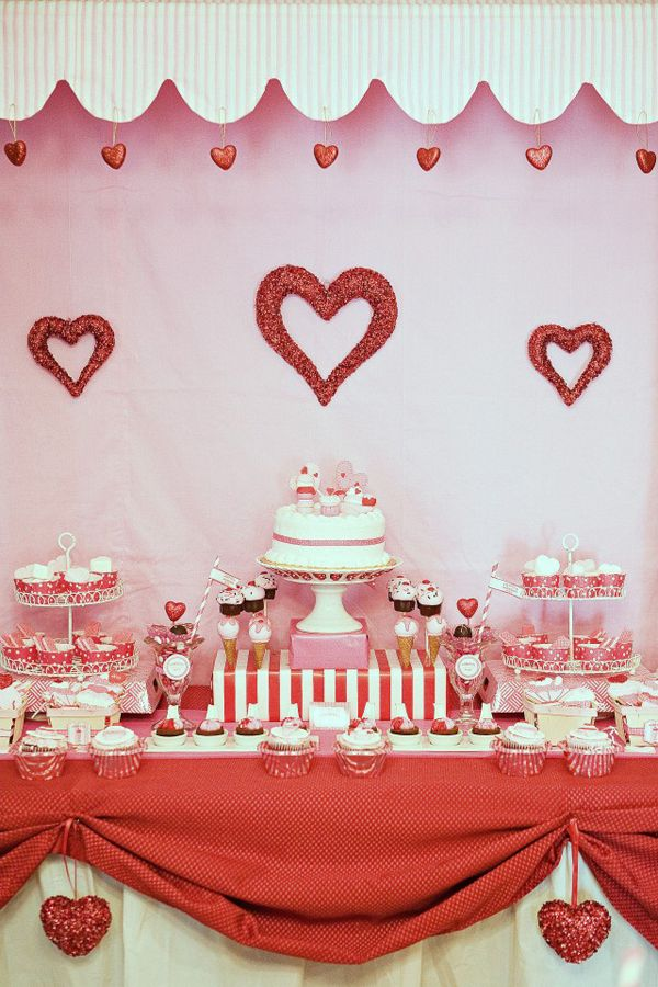 15 gorgeous valentine's day dessert tables | dessert table, Ideas