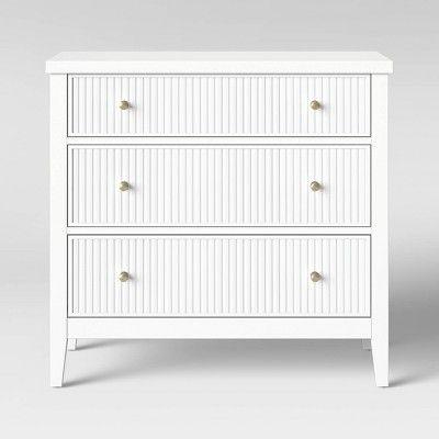 Wrentham Beadboard Farmhouse 3 Drawer Dresser White Threshold