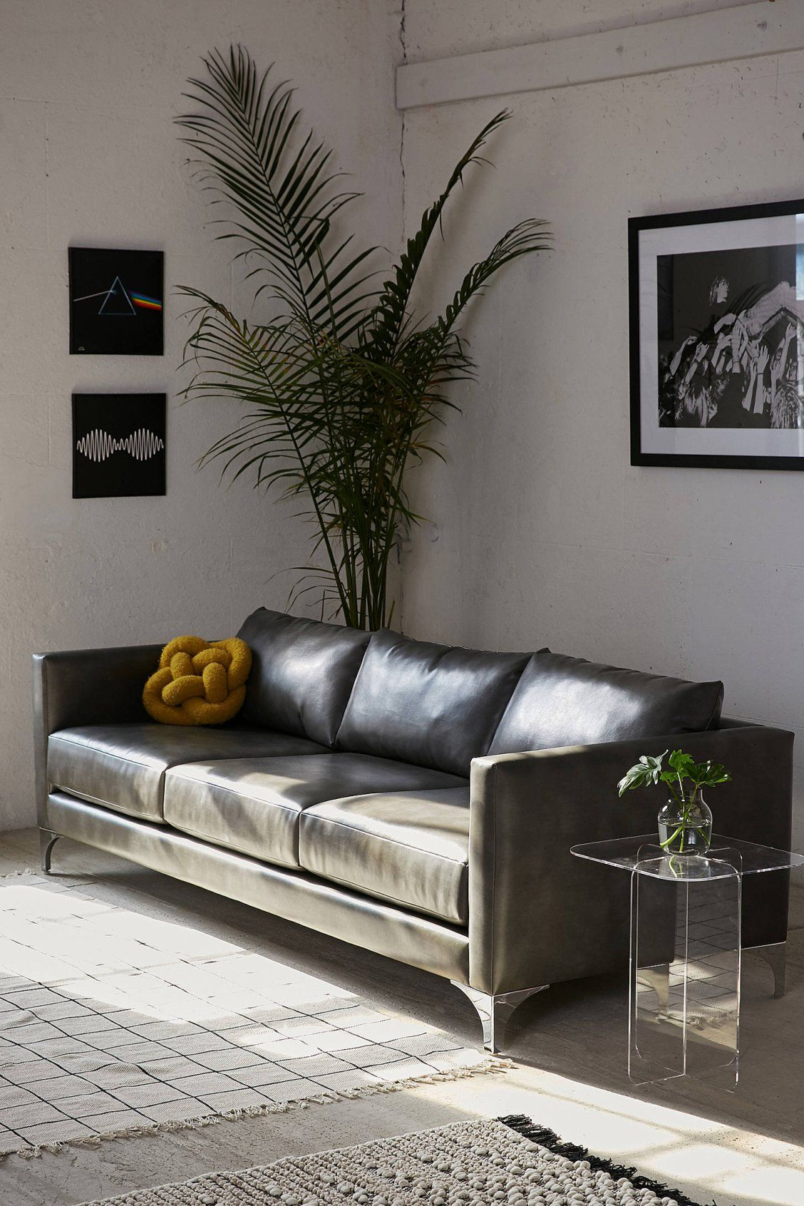 Tremendous Chamberlin Recycled Leather Sofa Urban Outfitters Pabps2019 Chair Design Images Pabps2019Com