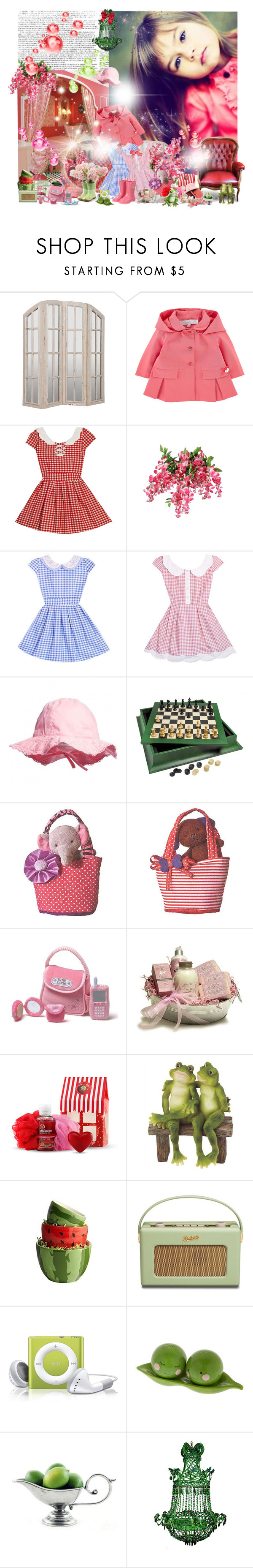 """Untitled #1045"" by patsypatsy ❤ liked on Polyvore featuring beauty, Tartine et Chocolat, Buccellati, Aurora World, Une, Gund, The Body Shop, Pier 1 Imports, Looking Glass and One Hundred 80 Degrees"
