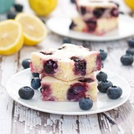 Blueberry Lemon Brownies...zingy, tart and incredibly delicious!