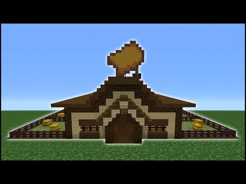 Minecraft Tutorial How To Make A Horse Stables Youtube